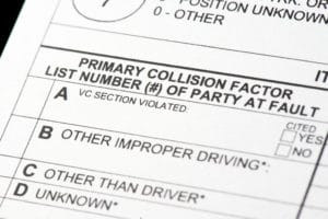 police report after a truck accident
